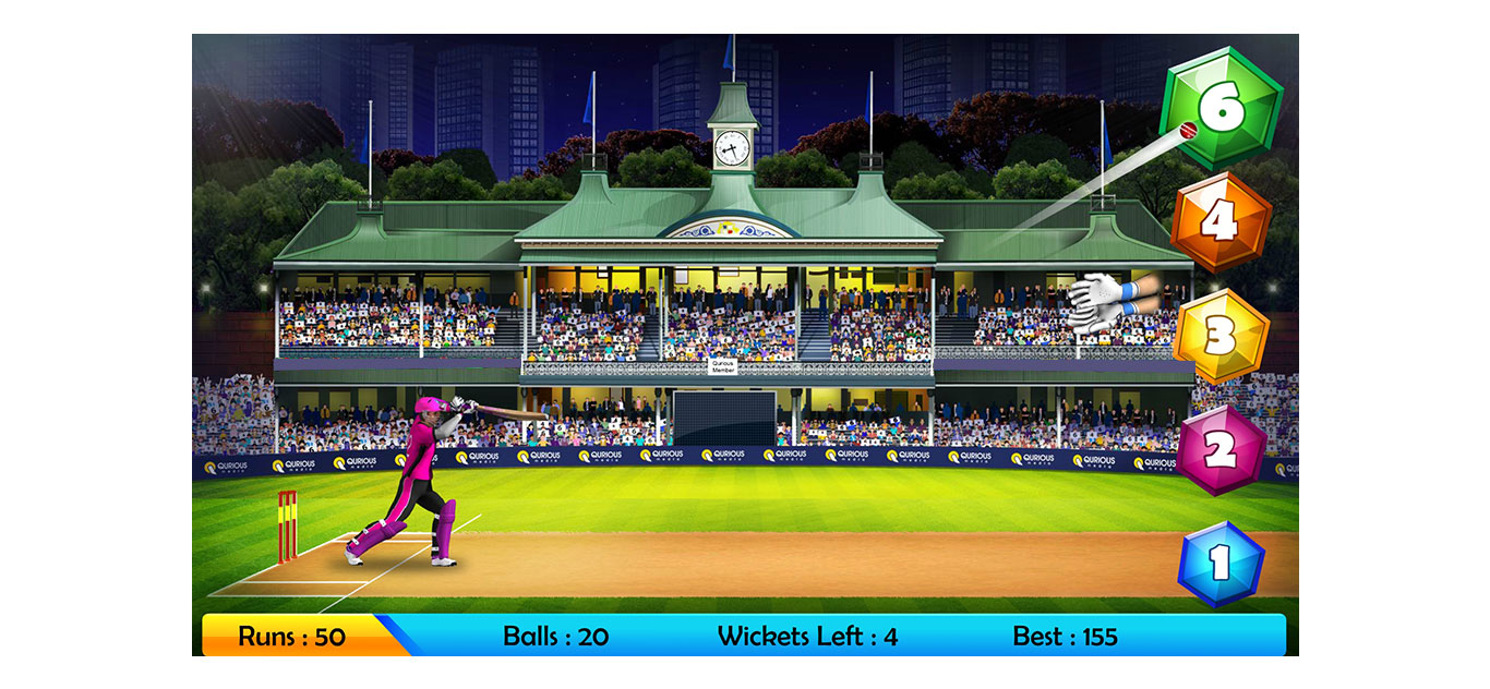 T20 Cricket game on mobile